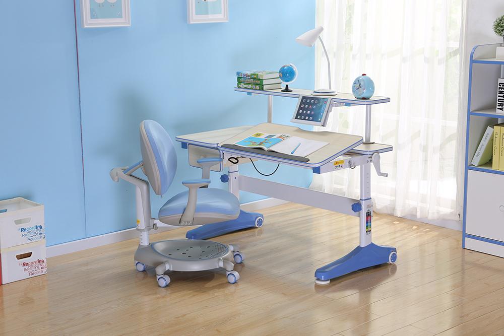学生写字桌蓝色