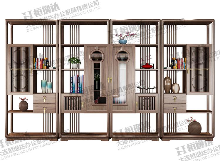 锦州白蜡木实木书柜