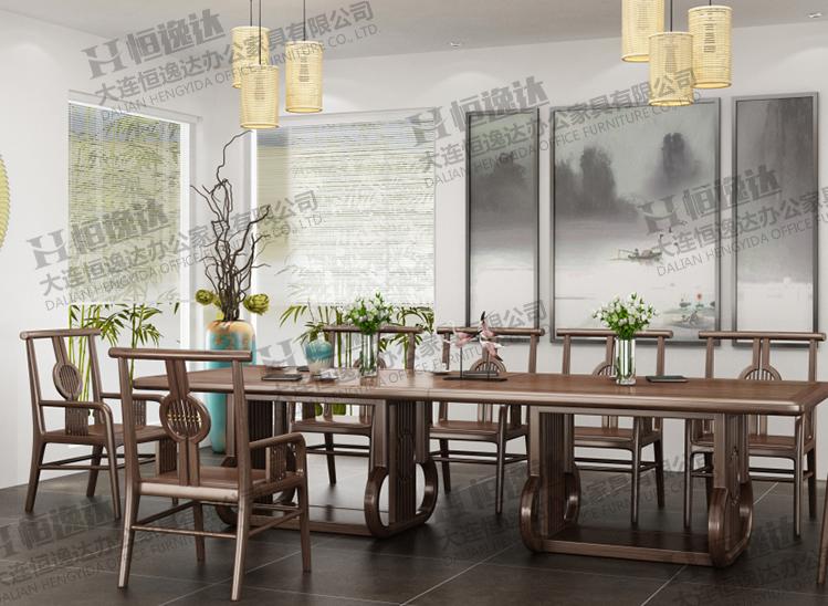 白蜡木实木会议桌