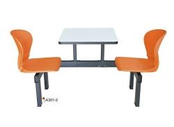 两人连体餐桌椅