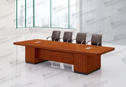 盖州斑马木会议桌