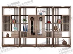 庄河白蜡木实木书柜