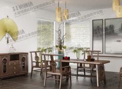 白蜡木实木茶台、茶椅