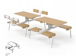 四人位餐桌椅